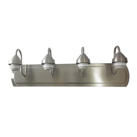 shop portfolio 4 light 6 in brushed nickel vanity light bar at lowes com