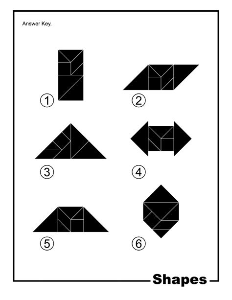 shapes silhouette solution tangram card clipart