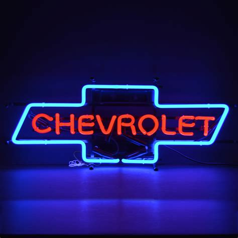 Chevrolet Neon Sign by Chevrolet Bowtie Neon Sign