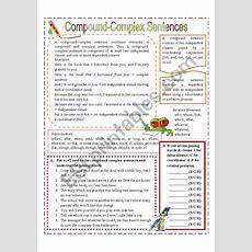 Compound Complex Sentences  Esl Worksheet By Missola