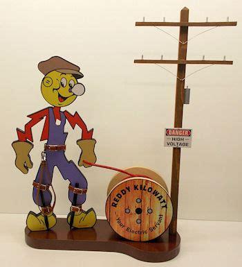 reddy kilowatt   service diorama display  tall