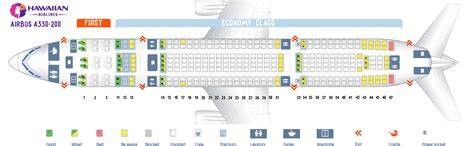 Seat map Airbus A330-200 Hawaiian Airlines. Best seats in ...