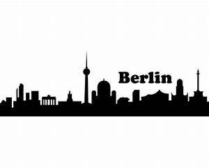 Berlin Schwarz Weiß Bilder : wandtattoo berlin skyline wandaufkleber viele farben und gr en sofort lieferbar kaufen bei plot4u ~ Bigdaddyawards.com Haus und Dekorationen