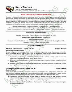 teacher resume english teacher resume sample teacher With english teacher resume template
