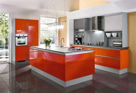 cocinas en color naranja  plata colores en casa