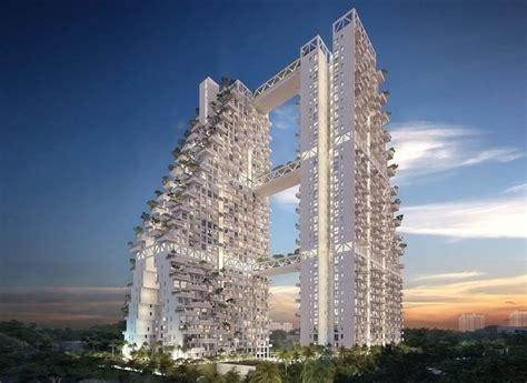 Safdie Cascading Skyhabitat Complex Singapore