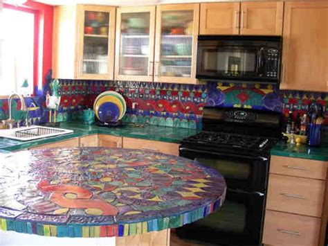 colourful kitchen tiles 15 stylish kitchen countertop ideas ultimate home ideas 2373