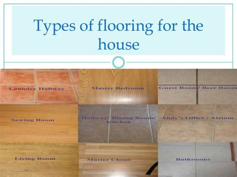 types of flooring materials ppt types of flooring for the house