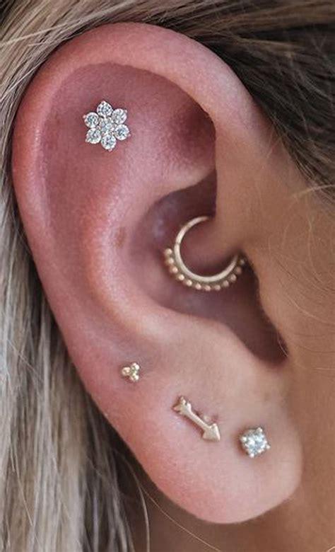 felicity crystal flower  ear piercing stud earring