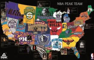 NBA Team Logos Map