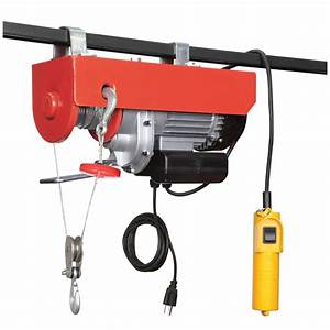 880 Lb  Electric Hoist With Remote Control