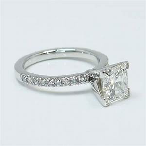 Princess Diamond Pave Ring 2 Carat