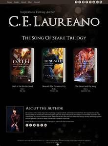 Website Design For Author C E Laureano Swank Web Design