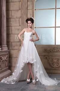 Robe De Mariée Moderne : robe de mari e moderne pas cher asym trique p tales tra ne ~ Melissatoandfro.com Idées de Décoration