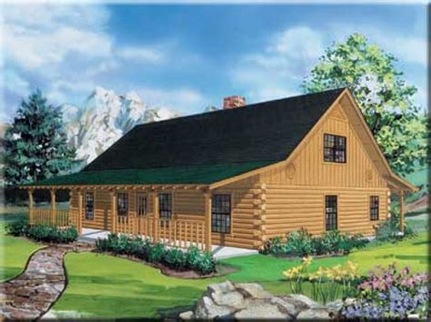 ranch style log home floor plans ranch log cabin homes