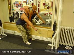 Standing One Arm Cable Row Video Exercise Guide  U0026 Tips