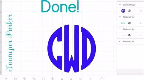 circle monogram font  cricut design space app tutorial youtube