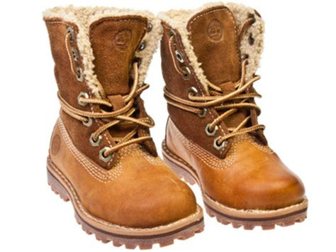 timberland authentics shearling toddler brown leather 338 | 7804 3