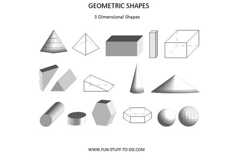 3 dimensional shapes new calendar template site