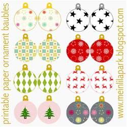 free printable christmas ornaments baubles ausdruckbarer weihnachtsschmuck freebie