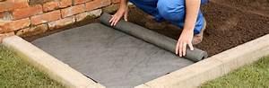 Geotextile Sous Gravier : terram weedguard landscape fabric weed control geotextile ~ Premium-room.com Idées de Décoration