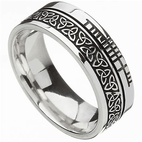 celtic ring comfort fit faith knot