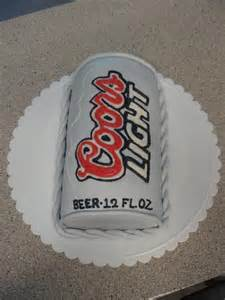 Coors Light Beer Birthday Cakes