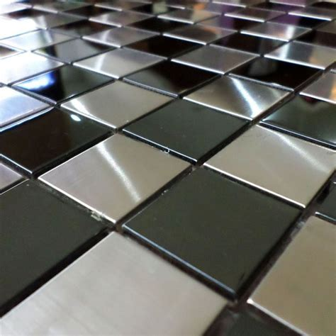 30mm square silver mixed black chess board stainless steel