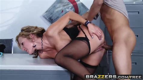 seductive blonde milf with big tits nikki sexx likes to have anal sex in her office free porn