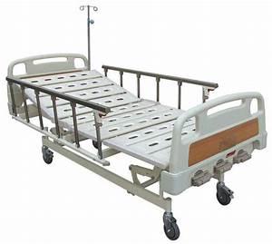 Mobile Manual Hospital Bed For General Ward   Aluminum