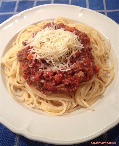 la sauce bolognaise l incontournable en version light a table avec