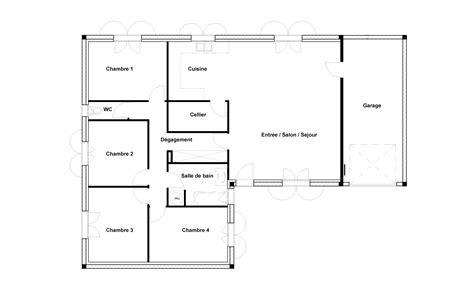 plan maison 2 chambres plan de chambre croquis1 plan maison 4 chambres suite