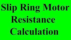 Overhead Crane Slip Ring Motor Resistance Calculation