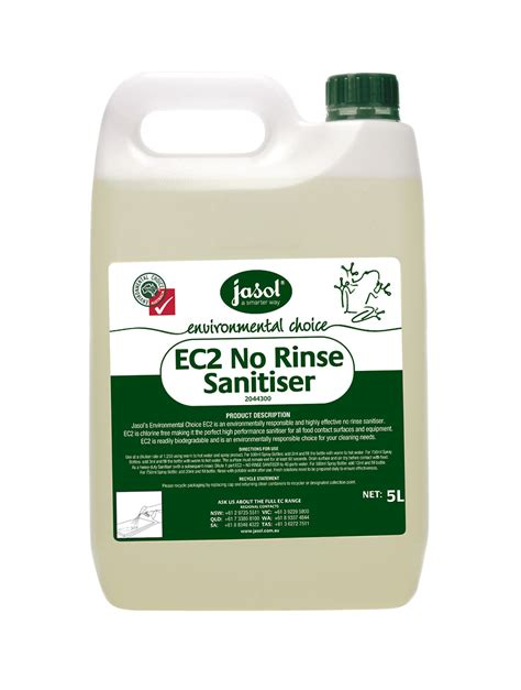 Vinclasse No Rinse Cleaner Sanitiser by Ec2 No Rinse Sanitiser