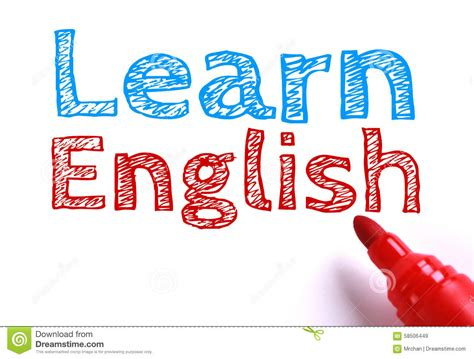 Learn English Stock Photo  Image 58506449