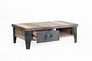 Table Basse Industrielle Avec Tiroir : la table basse avec tiroir samoudra la maison coloniale ~ Teatrodelosmanantiales.com Idées de Décoration