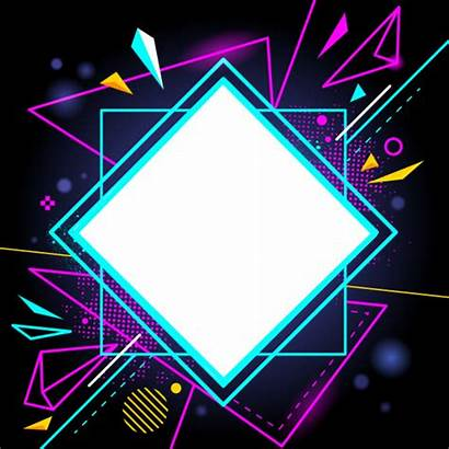 Neon Clipart Figuras Shape Colores Marco Lines