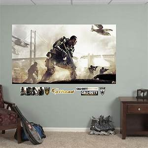 call of duty advanced warfare battle mural wall decal With cool call of duty wall decals
