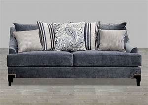 Nailhead sofas top grain leather sofa with nailhead thesofa for Grey sectional sofa with nailhead trim