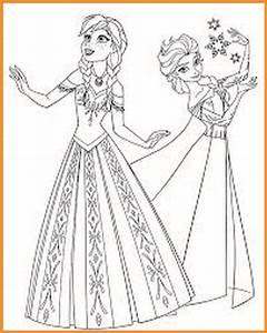 Ausmalbilder Eisknigin Elsa Und Anna Kostenlos Rooms