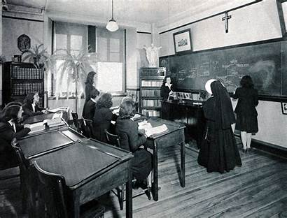 College History Dame Notre 1950s Vanier Class