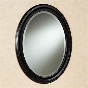 Loree Bronze Finish Oval Wall Mirror