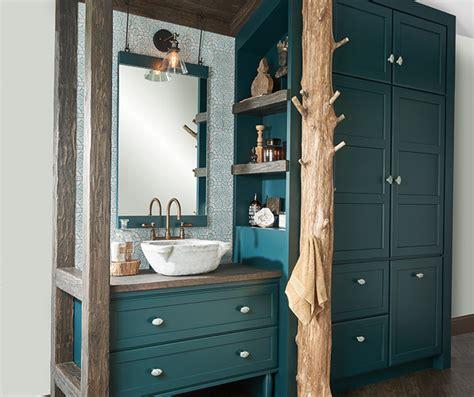 Teal Green Bathroom Vanity & Storage Cabinets Decora