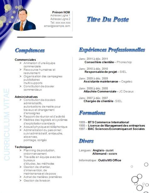 modele cv secretaire comptable exemple lettre de motivation assistant e marketing