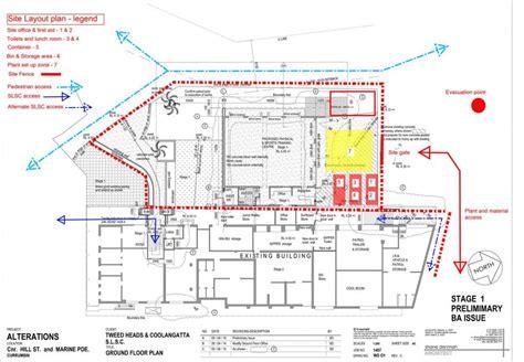 building site plan construction site layout planning