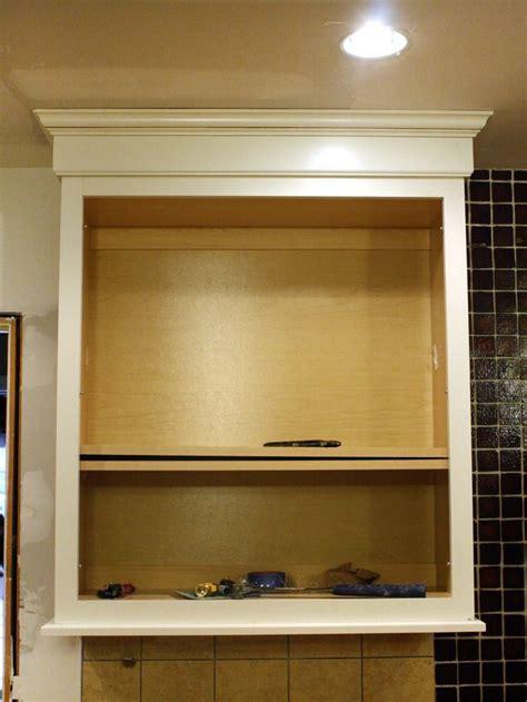 install  kitchen cabinet light rail cabinet