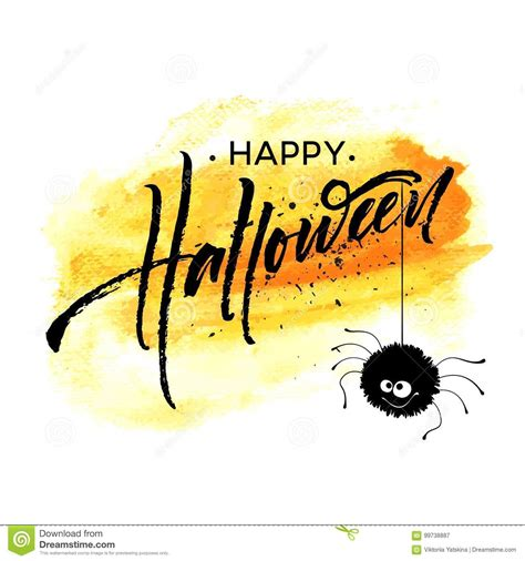 Happy Halloween Lettering Holiday Calligraphy For Banner