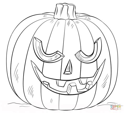 jack  lantern coloring page  printable coloring pages