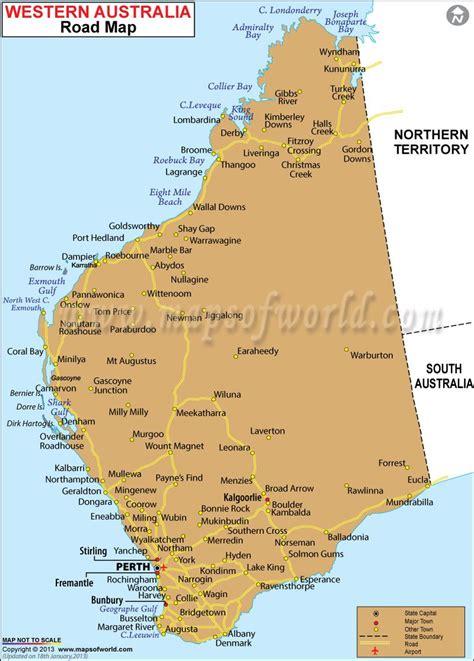 road map  western australia maps australia