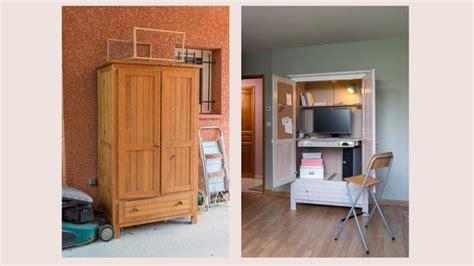 transformer une armoire en bureau bureau dans une armoire conceptions de maison blanzza com